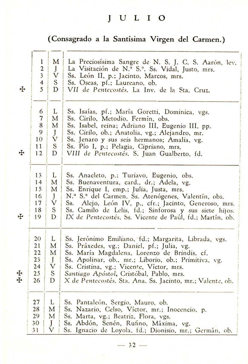 Arcimís: Calendario meteorofenológico 1959